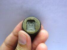 Vintage Indian Brass Jewelry Making tool Mould Stamp Dye Seal Tirupati Balaji