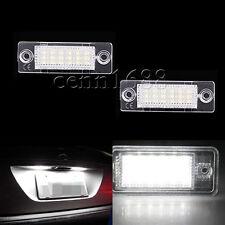 2X SMD LED License Number Plate Light Lamps Bulbs For VW Jetta Passat Golf Skoda