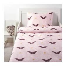 IKEA Duvet Quilt cover & pillowcase Lovely Silkig Butterflies Light Pale Pink