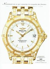 PUBLICITE ADVERTISING 217  1995  la montre Breitling Perpetuel Sirius