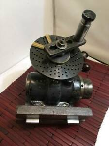 Indexing Dividing Head Corrall w/ 6'' Plate 1/2 Brown Sharpe Collet w/ Holder