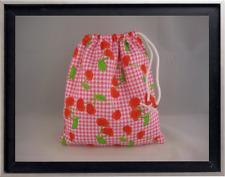 Gymnastics Leotard Grip Bags / Checkered Cherries Gymnast Birthday Goody Bag