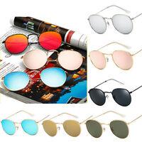 Round Retro Women Men Metal Frame Sunglasses Glasses Vintage Outdoor Eyewear