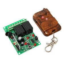 2 channel RF Relay Module with Remote Control Transmitter & Receiver