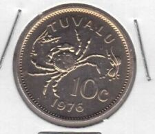 TUVALU – 10 CENTS UNC COIN 1976 YEAR KM#4 CRAB