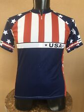 Performance Bicycle Jersey USA Mens M Cycling Bike Short Sleeve Stars Stripes