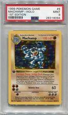 Pokemon Card 1st Edition Shadowless Machamp Base Set 8/102, PSA 9 Mint