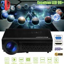 5000Lumen 3D 1080P LED Video Projector Home Theater HDMI VGA USB AV Y/Pb/Pr ATV
