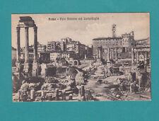 Roma Foro Romano Col Campidoglio Vintage Postcard Italy