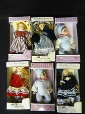 Lot of 6 SWEET PETITE COLLECTION Barbara Lee PORCELAIN DOLLS Cute for Ornaments