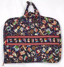 Vera Bradley Regatta Garment Bag Luggage Travel Clothes Retired Soft Case