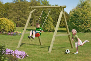 Einzelschaukel Kantholz für den Garten Schaukelgestell für Kinder