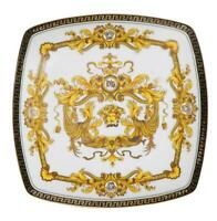"10"" Euro Porcelain Medusa Fine Bone China Dinner Plate - 24K Gold White Dish"