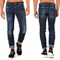 Diesel Herren Slim Fit Stretch Jeans Hose Dunkel Blau | Thommer 083AU