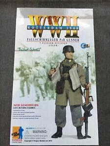 """Dragon 1/6 12"""" WWII German Fallschirmjager Gunner Baldur Schnell Figure 70414"""