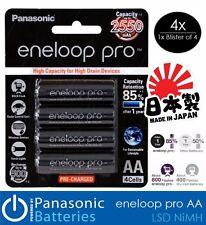 Panasonic eneloop pro AA 2550mAh NiMH High Capacity Rechargeable Battery 4pk