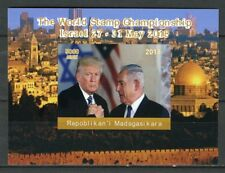 Madagascar 2018 MNH Donald Trump Netanyahu Israel 1v Impf Deluxe S/S Stamps
