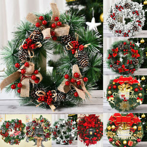 Wall Hanging Outdoor Christmas Wreath Decorations Large Tree Garland Ornament