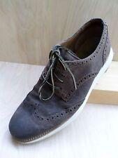 COLE HAAN Lunargrand brown suede oxfords brogues wingtips shoes 9M