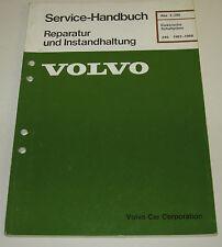 Werkstatthandbuch Elektrik Volvo Elektrische Schaltpläne 240 Baujahr 1987 - 1988