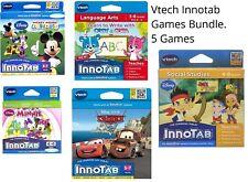 Vtech Innotab 1 2 3 3S Max Games Software Bundle Disney Cody Jake Cars 2 Minnie