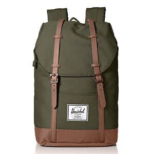 Herschel Supply Co. - Retreat Backpack - Dark Olive / Saddle Brown