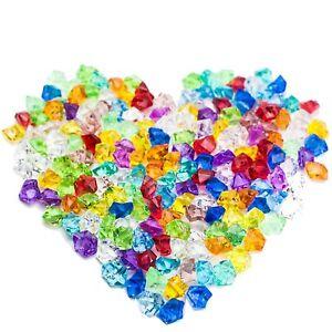 HUJI Acrylic Pirate Colored Jewels Gems Faux Diamond Crystals Treasure Gemstones
