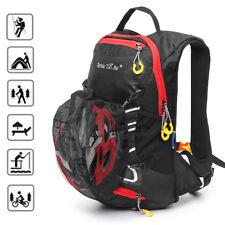 12L Cycling Bike Backpack Shoulders Bag Waterproof Hiking Rucksack W/Helmet Net