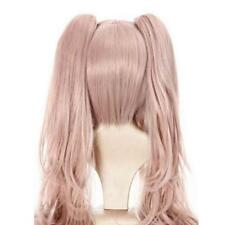 Danganronpa Junko Enoshima Cosplay wig Long Synthetic Hair Pink Wavy Wigs+Cap