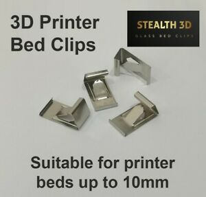 3D Printer Bed Clips - Glass Bed/Heated Bed/Mirror Clips - Stealth 3D