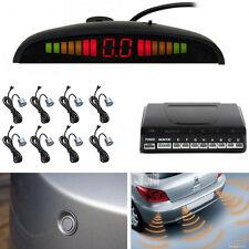 8 Parking Sensors Silver Car Reverse Backup Front  Rear Sound Alarm Radar System