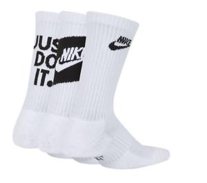 Nike Socks Youth Boys New Dri Fit Everyday Cushioned Crew 3 PACK SIZE (3Y-5Y)