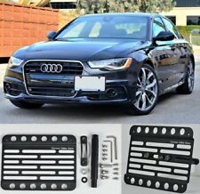 For 12-16 Audi S6 C7 w/PDC Front Bumper Tow Hook License Plate Relocator Bracket