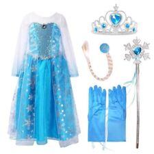 Cotton Blend Elsa Fancy Dresses for Girls