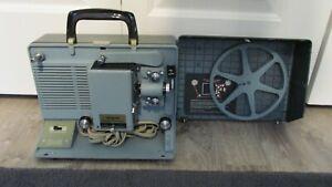 ARGUS SHOWMASTER 500 AZ 8mm w/Case FILM MOVIE PROJECTOR Vintage ORIGINAL tested