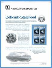 USPS COMMEMORATIVE PANEL #77 COLORADO STATEHOOD #1711