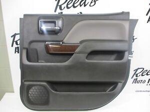 2014-2018 CHEVROLET SILVERADO CREW CAB BLACK REAR DOOR PANEL R