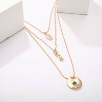 Boho Buddha Pendant Necklace Long Chain Multilayer Choker Women Fashion Jewelry