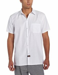Dickies Cook Shirts Short Sleeve With Snap Buttons XS-5XL DC125