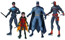 SON OF BATMAN DC ANIMATED 4 FIGURE SET! BATMAN! DEATHSTROKE! ROBIN! NIGHTWING!