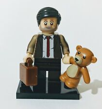 Mr Bean Minifigure teddy & Case [Official Lego & custom parts see description]UK