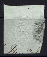 Great Britain - Embossed Revenue - 10s - 1861 Bill Stamp (Sm. Pinholes) - 090415