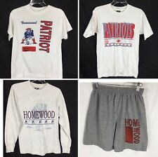 Lot 4 Vtg 80s Homewood High School Patriots Athletic Clothes Mens S M Pe Phys Ed