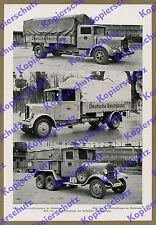 Reichsbahn Auto Lkw Mercedes-Benz Geländewagen Büssing NAG Gütertransport 1936