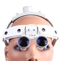US 1X Dental Surgical Medical Headband Binocular Loupes Magnifier Optical 3.5X-R