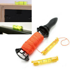 Mini Pocket Line Spirit Level Gradienter Brick Rope Cord String Bubble Hanger