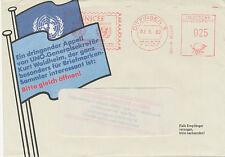 BRD 1980, seltene 25 Pf Freistempel UNICEF (UNO) 7257 DITZINGEN