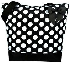 Black with Big White Polka Dots Tote Bag-NWT