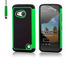 Doble Capa Funda a Prueba de Choques para Lumia Teléfono + Protector Pantalla &