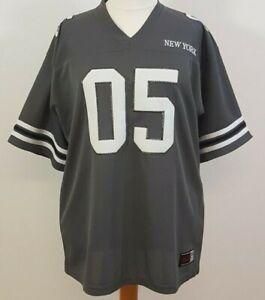 GYM: LA Sports Grey/Green American Football Shirt with 05 New York Decal XL